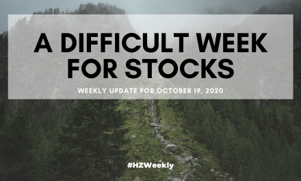 A Difficult Week for Stocks – Weekly Update for October 19, 2020