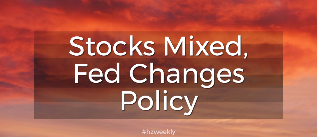 Stocks Mixed, Fed Changes Policy – Weekly Update for September 25, 2017