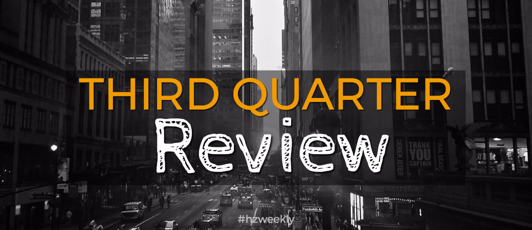 Third Quarter Review – Weekly Update for October 9, 2017