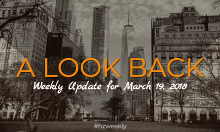 A Look Back – Weekly Update for March 19, 2018