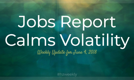 Jobs Report Calms Volatility – Weekly Update for June 4, 2018
