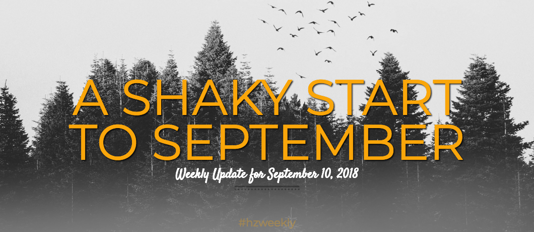 A Shaky Start to September – Weekly Update for September 10, 2018