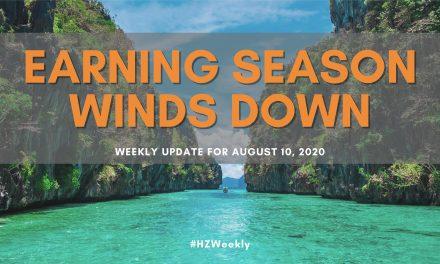Earnings Season Winds Down – Weekly Update for August 10, 2020