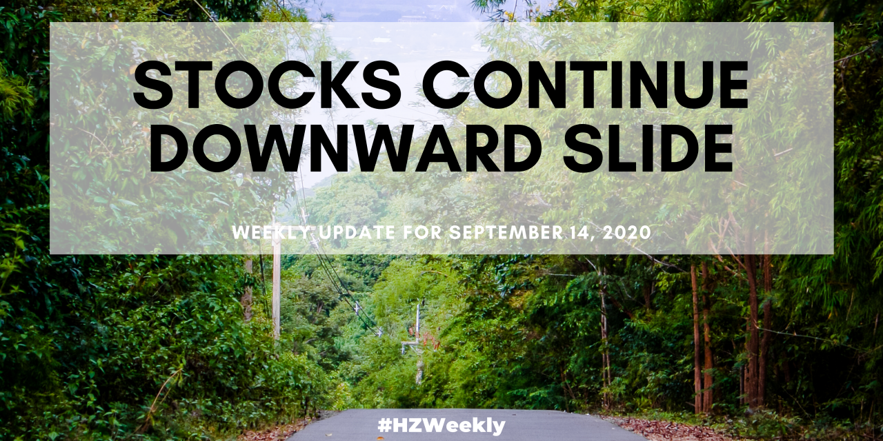 Stocks Continue Downward Slide – Weekly Update for September 14, 2020