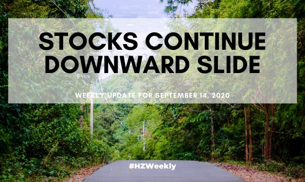 Stocks Continue Downward Slide – Weekly Update for September 14, 2020