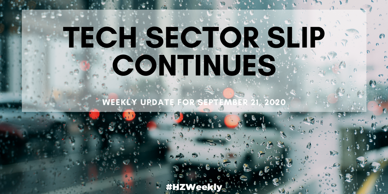 Tech Sector Slip Continues – Weekly Update for September 21, 2020