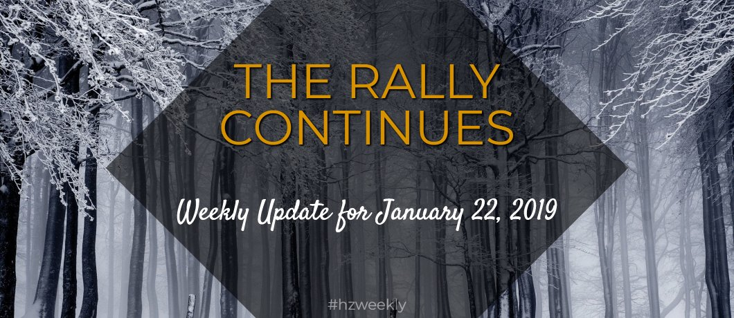 The Rally Continues – Weekly Update for January 22, 2019
