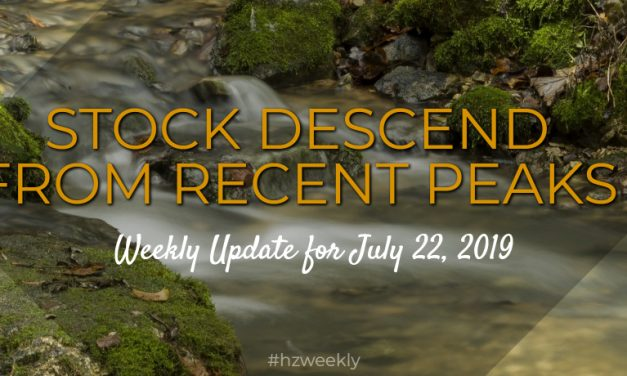 Stocks Descend from Recent Peaks – Weekly Update for July 22, 2019