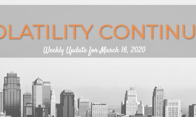 Volatility Continues – Weekly Update for March 16, 2020
