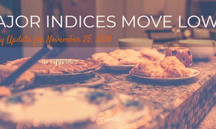 Major Indices Move Lower – Weekly Update for November 25, 2019