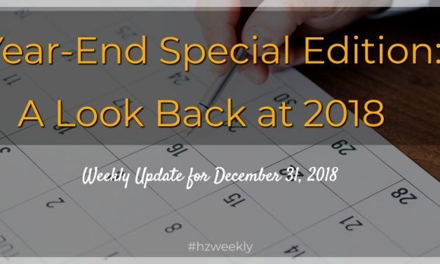 Year-End Special Edition: A Look Back at 2018 – Weekly Update for December 31, 2018