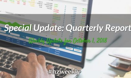 Special Update: Quarterly Report – Weekly Update for October 1, 2018